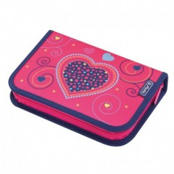 Pencil case 31 pcs Pink Hearts, Estuche