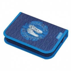 Pencil case 31 pcs Blue Dino, Estuche