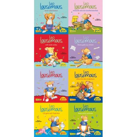 Pixi Bücher, Serie.219, Pixi-Buch 1985-1992 (Leo Lausemaus), 8 Hefte