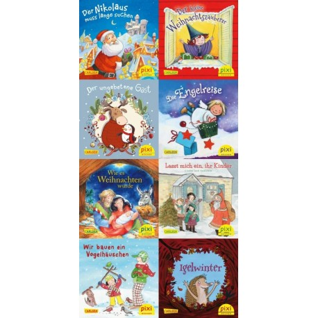 Pixi Bücher, Serie.W33, Weihnachts-Pixi (Fröhliche Weihnacht überall), 8 Hefte