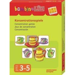 Bambino LÜK, m. bambinoLÜK-Lösungsgerät, Konzentrationsspiele, Set