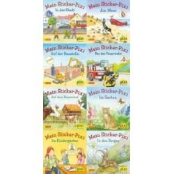 Pixi Bücher, Serie.199, Pixi-Buch 1795-1802 (Meine Sticker-Pixis), 8 Hefte