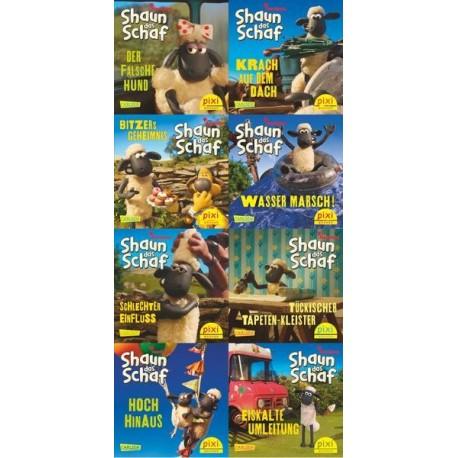 Pixi Bücher, Serie.228, Pixi Buch 2068-2074 (Shaun das Schaf ist nicht zu bremsen), 8 Hefte