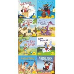 Pixi Bücher, Serie.229, Pixi-Buch 2075-2082 (Große Abenteuer für kleine Kerle), 8 Hefte