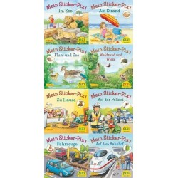 Pixi Bücher, Serie.234, Pixis neue Sticker-Bücher, 8 Bde.